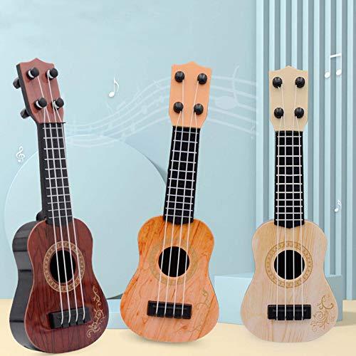 TEGT Giocattolo per ukulele, piccolo modello di chitarra, giocattolo per bambini, chitarra, strumento musicale, strumento musicale, strumento musicale