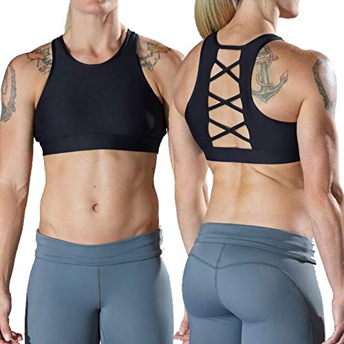 Vull Sport Basics Breath Sports Bra - Black (Black, Small)