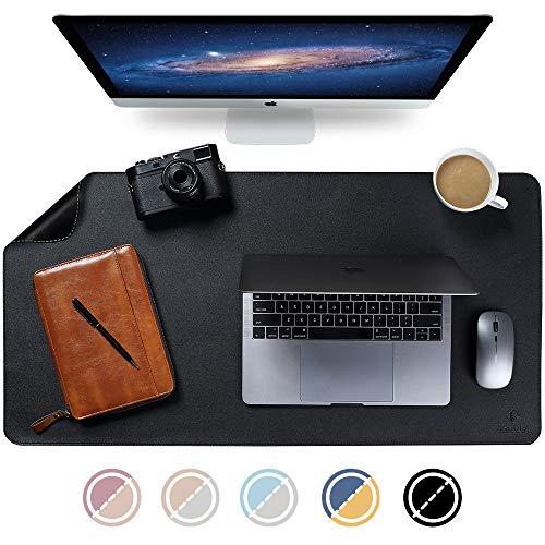 Upgrade Knodel Tischunterlage, Schreibtischunterlage, 90cm x 43cm PU-Leder Tischunterlage, Laptop Tischunterlage, wasserdichte Schreibunterlage für Büro- oder Heimbereich, doppelseitig