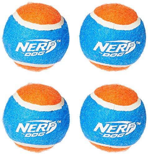 Nerf Dog Tennisball Blaster Ersatzbälle, 4er-Pack