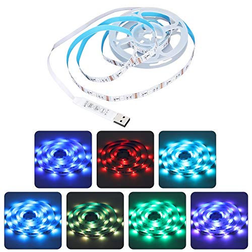 Hililand Tira de Luces LED de 2 m / 6,6 pies, 5050 LED RGBW Tira de Luces Que cambian de Color para el hogar, la Cocina, la habitación, el Dormitorio, el Bar