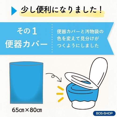『驚異の防臭袋 BOS (ボス) 非常用 簡易トイレ セット 5回分 (Aセット)』の3枚目の画像