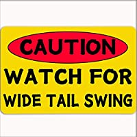 注意:ワイドテールスイング警告交通注意事項道路安全ストリート金属錫記号