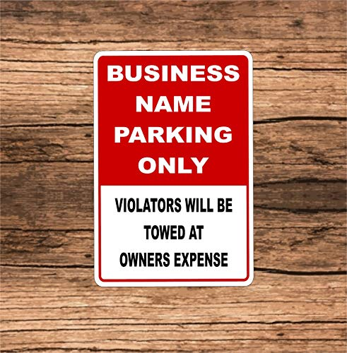 Lplpol Señal de aparcamiento de negocios personalizada Bp1 de aluminio, de 8 x 12 pulgadas, aluminio, 1 color, 8' x 12'