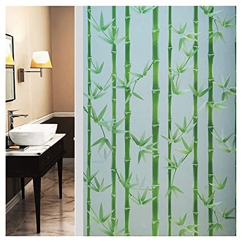 ZSFBIAO Pellicola Finestre Pellicola Smerigliata per Finestre per Finestre Vetri-Autoadesive,Anti-UV, per Bagno Porta Camera da Letto Cucina Ufficio -Bambú Verde 75 * 300cm