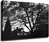 Scott Mutter Poster Subway House on Canvas Oil Painting Posters and Prints Decorations Wall Art Picture Living Room Wall Ready (24x32 inch,Framed)