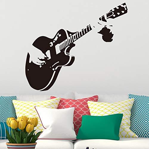 WERWN Dibujos Animados animeMusic Aula Regalo del Maestro Guitarra música calcomanías Creativas decoración de la Sala de Estar con Vinilo Pegatinas de Pared Mural Mural