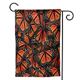 """Szipsple Monarch Butterflies Print Welcome Garden Flag Vertical Double Sided Vivid Color Outdoor Yard Flag Sign Outside Home Yard Patio Decorations, Seasonal Spring Summer, 12.5""""x18"""" Size"""