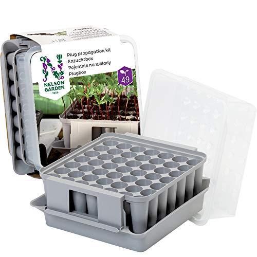 Nelson Garden 1933 Pflanzenaufzucht-Kasten im Zimmergewächshaus-Set - Für 49 Pflanzen
