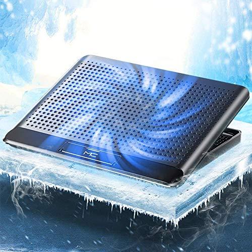Ventilador deAlmohadilla deenfriamiento para computadora portátil Enfriador para computadoraportátil, Delgado, ergonómico, 6 ángulos, Ajustable, Soporte para computadora