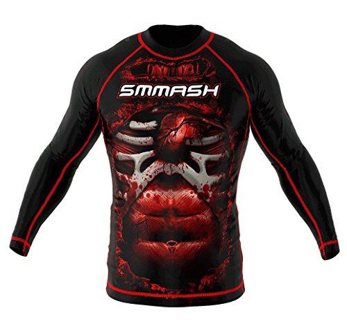 Rashguard SMMASH Blood 3.0 Manga Larga MMA BJJ UFC S M L XL XXL XXXL (M)
