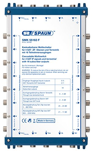 Spaun SMK 55163 F Mulitschalter (4X SAT, 1x TER, 16 Teilnehmer)