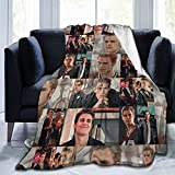 CHANYO Vampire Diaries Soft Throw Blanket TV Show Merchandise Flannel Blanket for Sofa Couch Living Room Vampire Character Stefan Salvatore Gifts Ornaments for Girls Boys Party Supplies 50'x40'