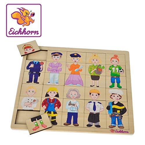 Eichhorn 100005408 Puzzle avec 30 Compartiments 26 x 22 cm certifié FSC 100 % Bois de Tilleul