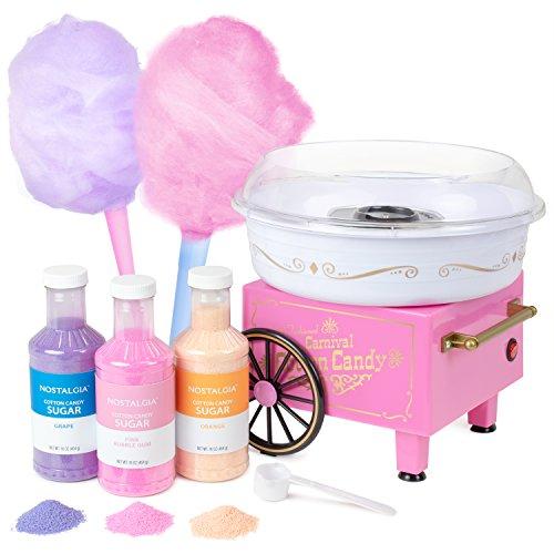 Nostalgia PCM305BUN Hard & Sugar-Free Hard Candy Cotton Candy Maker - Bonus Bundle