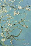 Decorative Notebook: Almond Blossoms by Vincent Van Gogh Journal Pocket-sized Notebook Travel Diary