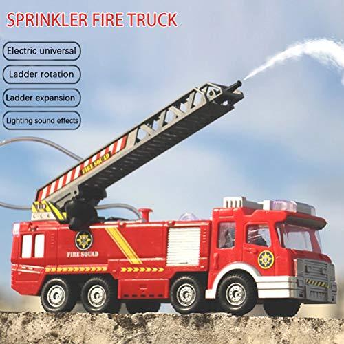 COTTILE Toys City Fire Engine City Action Véhicule d'échelle de Pompiers avec lumière et Son, 5 Ans et Plus
