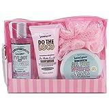 Gloss! - Caja de Baño - Pequeño Estuche de Baño para las Mujeres - Kit de Baño Juvenil - Beautyous - Karité, Vainilla y Mentha Citrata - 4 pzs/ 7 pzs, Rosa