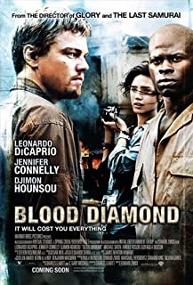 Blood Diamond Movie Poster (27 x 40 Inches - 69cm x 102cm) (2006) Style I -(Leonardo DiCaprio)(Jennifer Connelly)(Djimon Hounsou)(Chris Astoyan)(Stephen Collins)(Arnold Vosloo)
