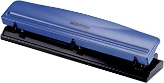 Bostitch 3 Hole Punch, 12 Sheets, Navy Blue (KT-HP12-BLUE)
