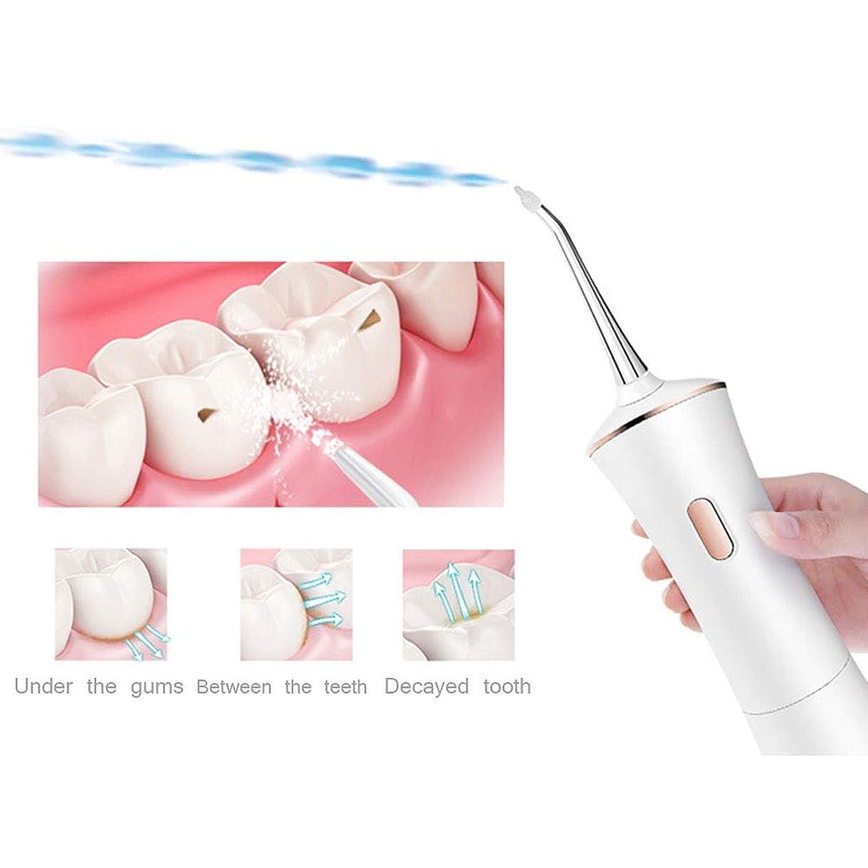 静かなどちらもチャーミング赤い歯 家庭 ポータブル 口腔洗浄器 電気の 歯のクリーナー フラッシャー コードレスウォーターフロッサー アンチリークデザイン