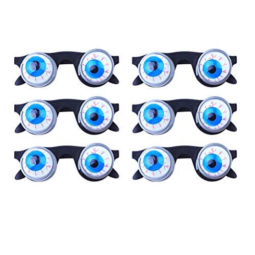 SUPVOX 6 Piezas Gafas de Broma con Ojos saltones para Halloween Juguete para asustar