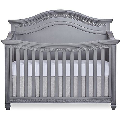 Evolur Madison 5-in-1 Curved Top Convertible Crib, Storm Grey