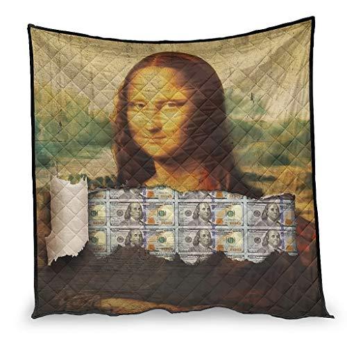 chvcodd Money Lisa - Edredón de aire acondicionado suave, diseño nórdico, ajuste para sofá, el mejor regalo para la familia, color blanco 230 x 260 cm