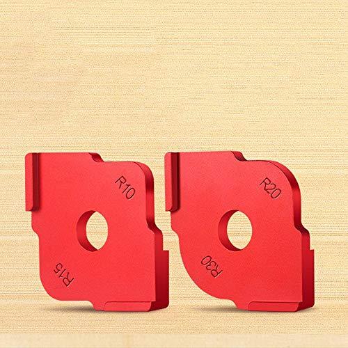 Wood Panel Radius Quick-Jig Frästisch Bits Jig Corner Templates Kit Zum Gravier- und Fräsmaschine R10 R15 R20 R30 Rot