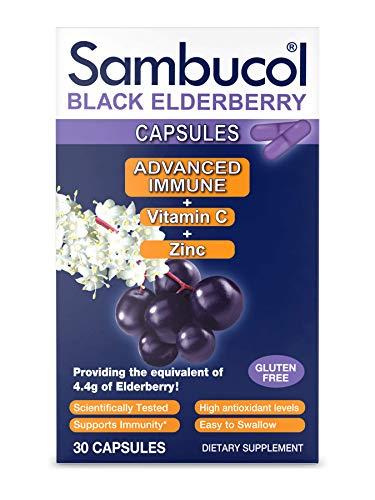 Sambucol Advanced immune black elderberry capsules with vitamin c and...