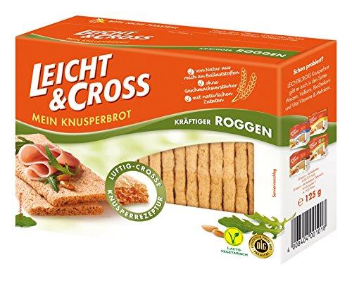 Leicht & Cross Roggen Knusperbrot, 8er Pack (8 x 125 g Packung)