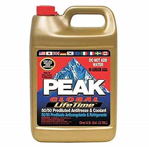 PEAK PXAB53 Antifreeze Coolant, 1 gal, 50/50, Amber