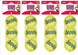 KONG AirDog Squeaker Tennis Ball Standard Regular Size x 12 Medium Bulk Bargain
