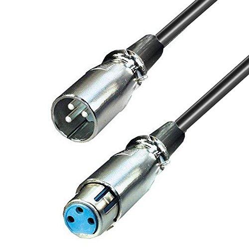 3,0 m erenLINE® XLR/Cannon Mikrofon Kabel Male/Female symmetrisch; XLR/Cannon Stecker an XLR/Cannon Buchse; Hochwertiges Kabel mit vernickelten Metallteckern