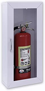 Surface Mount Fire Extinguisher Cabinet, Door with Handle in White