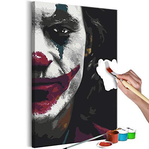 murando - Malen nach Zahlen Joker Gesicht Comic Figur 40x60 cm Malset mit Holzrahmen auf Leinwand für Erwachsene Kinder Gemälde Handgemalt Kit DIY Geschenk Dekoration n-A-1325-d-a