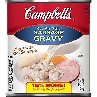 Campbell's Country Style Sausage Gravy, 13.8 oz. (Pack of 12)