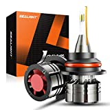 SEALIGHT 9007/HB5 LED Headlight Bulbs, 60W 16000 Lumens Super Bright LED Headlights Conversion Kit 6500K Cool White, 360-degree Illumination, 300% Brightness, Pack of 2