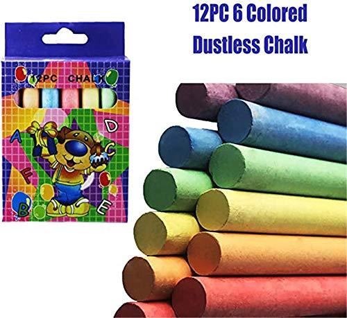 PXD913 24 Sidewalk Chalk Sticks set, pleister wasbaar plezier voor kinderen, wasbare kleuren outdoor Kid fun kleur speelplaats pen
