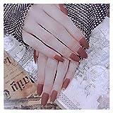 DINGGUANGHE 24pcs Beautiful False Nails Terapia Light Therapy Glassato Staccabile Prodotto finito...