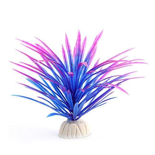 ZRYYD Fischbehälter Dekoration Fischtank Mann Made Kunststoff Angeln Wasserpflanze Fischgras (Color : Purple)