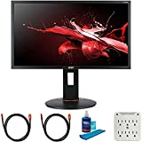 Acer UM.UX0AA.S01 23.6 inch XF240Q Sbiipr 16:9 Gaming Monitor 144hz-165hz AMD FreeSync Bundle with 2X 6FT Universal 4K HDMI 2.0 Cable, Universal Screen Cleaner and 6-Outlet Surge Adapter