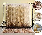 NIVIUS PHOTO 150x220cm Waschbare Baumwolle Polyester Wasserdicht Weihnachten Holzboden Fotografie Hintergrund Fotostudio Familie...