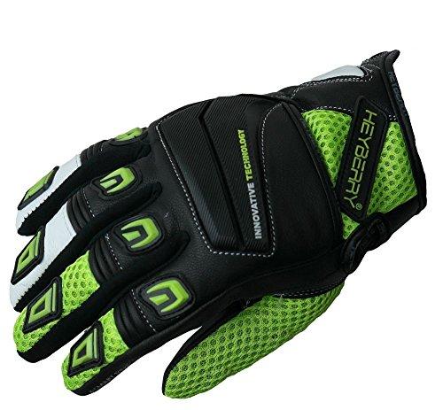 HEYBERRY Motorrad Handschuhe Motorradhandschuhe Sommer schwarz neon Gr. L