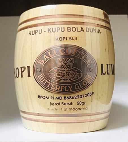 (粉状・極細挽き / 50g)世界一高価 魅惑のコーヒー豆 コピ・ルアク [KOPI LUWAK] コピ・ルアック 木樽