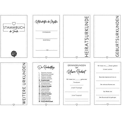 Hochzeitideal Stammbuch der Familie DIN A4 'Fiore' Leinen (grau) - 2
