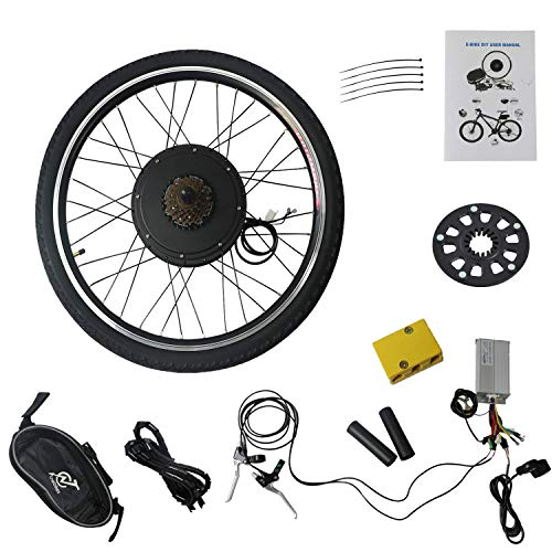 LLY 26' Electric E-Bike Motor Kit Rear Wheel 48V 1000W Battery Powered Bicycle...