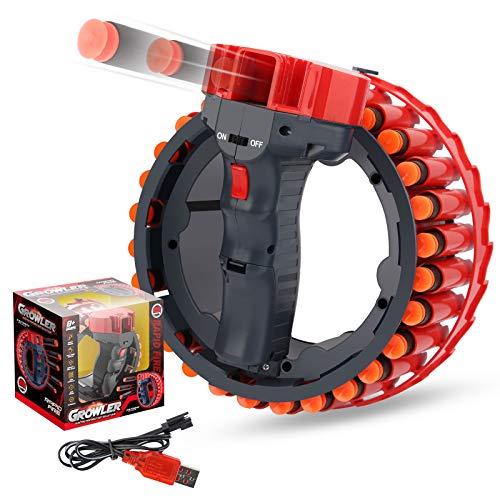 Ulikey Soft Bullet Pistole Zielspielzeug, Motorisiertem Blaster Shooting Game, Schieß Toy, Foam Darts Pfeile Nachfüllpack Darts, Zielscheibe Spielzeug für Party