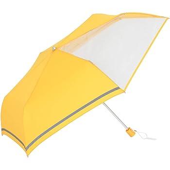 傘と日傘専門店リーベン(Lieben) 折りたたみ傘 イエロー 55cm×6本骨 前が見えるミニ傘 子ども用 LIEBEN-1330