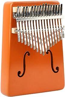 Kalimba 17 Key, Thumb Piano, Solid Finger Piano Mahogany Body, Set of 5 -Tuning hammer, Study instruction, Tune and color ...